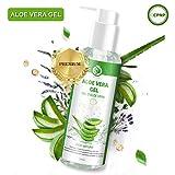 Aloe Vera Gel Feuchtigkeitscreme Aloe Vera Pflanze After Sun Aloe Vera Gel 100% - für Gesicht,...