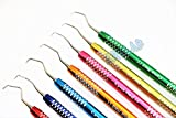 7PC HIGH Grade Gracey Curette Scaler Multicolor Periodontal Dental Instruments (CYNAMED)...