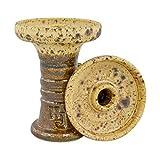 Hookah John Cazoleta de Arcilla para Pipa de Agua Retro Harmony con Flavour Saver (Golden Nugget)