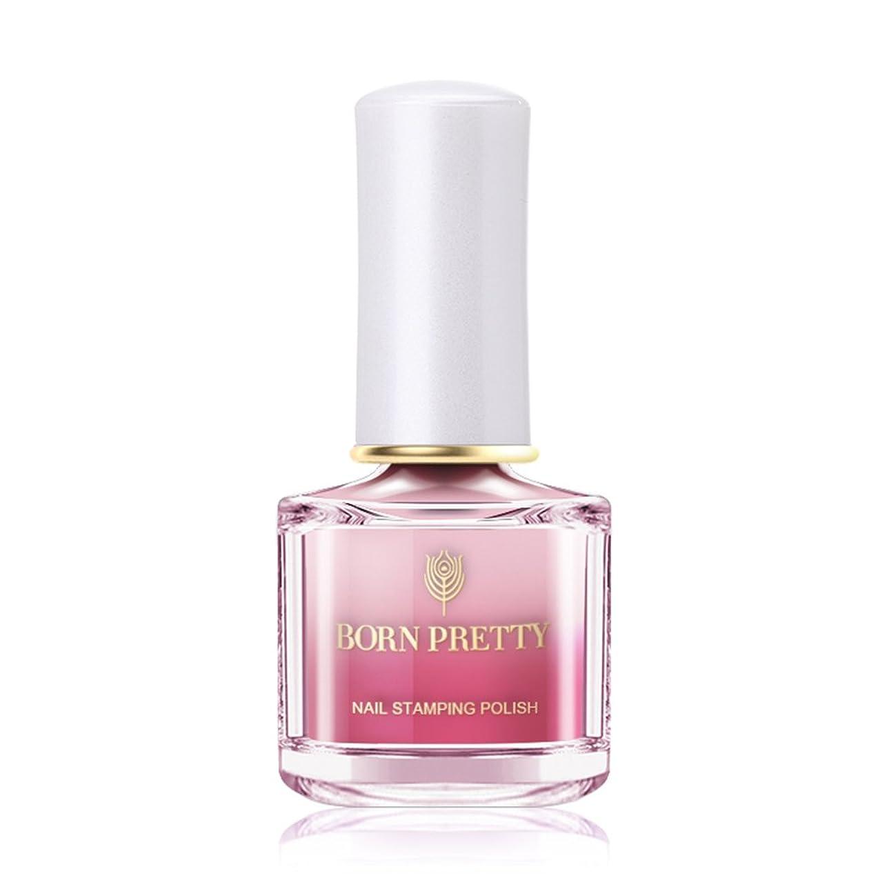 リダクター野ウサギダイヤモンドBORN PRETTY カメレオンスタンピングネイルカラー 温度によって色が変わる 6ml 【全12色】 セルフネイルスタンピングネイル (BP-I10 Beauty in pink) [並行輸入品]