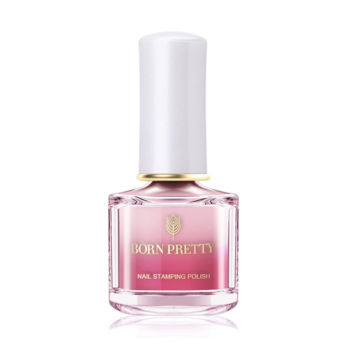 コカインバスケットボール歴史的BORN PRETTY カメレオンスタンピングネイルカラー 温度によって色が変わる 6ml 【全12色】 セルフネイルスタンピングネイル (BP-I10 Beauty in pink) [並行輸入品]