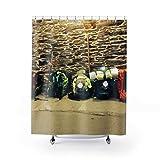 DKISEE Camino Cortina de ducha, inspiración de viaje, regalo temático de viaje, cortina de ducha de verano, moderno, Camino de Santiago, The Way, Buen Camino, España 180 x 180 cm