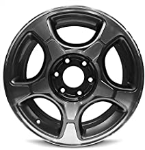 Road Ready Car Wheel For 2004-2009 Chevrolet Trailblazer 17 Inch 5 Lug Gloss Black With Machine Face Aluminum Rim Fits R17 Tire - Exact OEM Replacement - Full-Size Spare