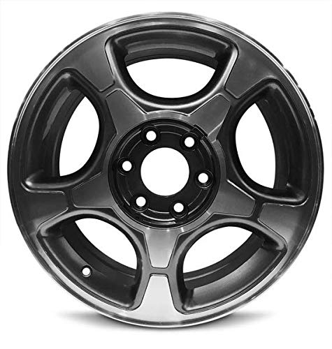Road Ready Car Wheel For 2004-2009 Chevrolet Trailblazer 17 Inch 6 Lug Gloss Black Aluminum Rim Fits R17 Tire - Exact OEM Replacement - Full-Size Spare