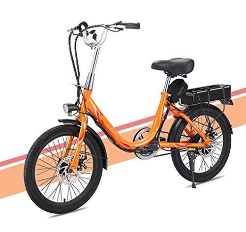 Art Jian Señora Adulta Bicicleta eléctrica, 20 conmuta Pulgadas Mini Bicicleta eléctrica...