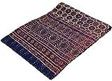 Guru-Shop Quilt, Steppdecke, Tagesdecke Bettüberwurf, Besticktes Tuch, Indischer Bettüberwurf, Tagesdecke - Muster 9, Braun, Baumwolle, 275x225 cm, Steppdecken und Quilts