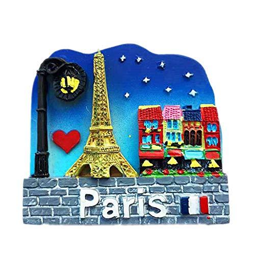 Parigi Francia 3D Magnete per frigorifero Artigianato Souvenir Magneti per frigorifero in resina Collezione Regalo da viaggio