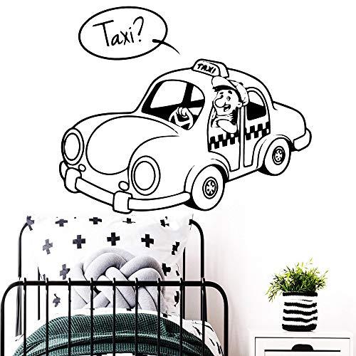 YHZSML Abnehmbare Taxi Fahrer Wandaufkleber Selbstklebende Kunst Tapete Wohnkultur Kinder Haus Schlafzimmer Kinderzimmer Dekoration M 28 cm X 34 cm