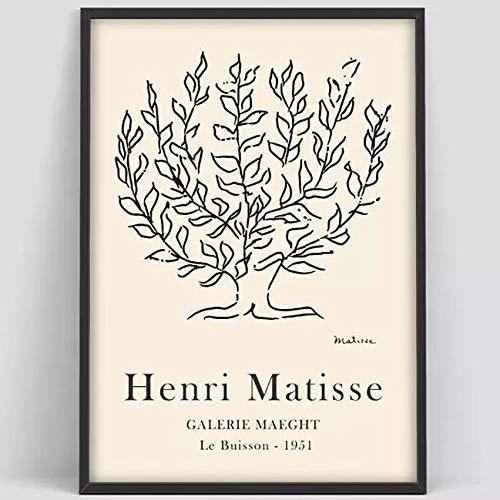 Póster de exposición de alma, póster de Pierre Soul, exposición de impresión de arte de Soul Matisse, impresiones abstractas, lienzo sin marco A3 60x80cm