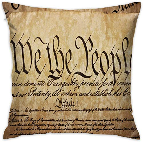 balaclava Home Decor Throw - Funda de cojín, diseño vintage de la constitución estadounidense, 4 x 18 pulgadas