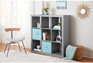 Better Homes and Gardens.. Bookshelf Square Storage Cabinet 4-Cube Organizer (Weathered) (White, 4-Cube) (Gray, 9-Cube)