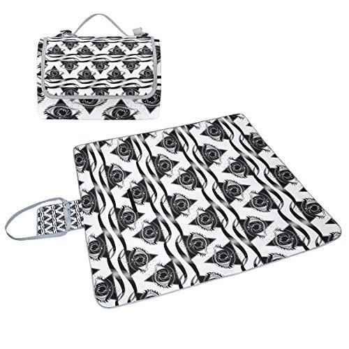 COOSUN schwarzen mit Starry Vortex Box Picknick-Decke mit Matte Schimmel resistent und wasserdicht Camping-Matte für rving, Picknickdecke, Strand, Wandern, Reisen und Ausflüge