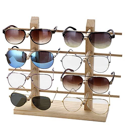espositore per occhiali ZOYLINK Espositore Per Occhiali Porta Occhiali Da Sole Supporto Per Vetri Decorativi In ??Legno