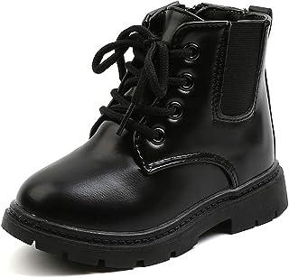 أحذية Comfyea للأطفال الصغار أحذية للأولاد والبنات ذات سحاب جانبي للكاحل، أحذية قتالية