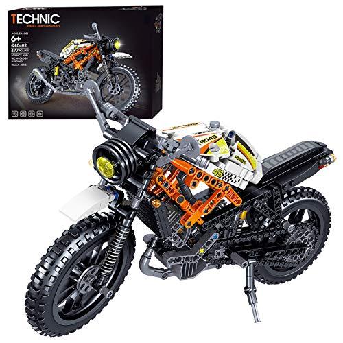 ZCXX 477 piezas Custom Motorcycle Set de técnica Carreras Motocicleta Modelo Kit de construcción Compatible con Lego Technic