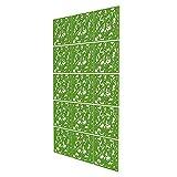Separador Ambientes Paneles de 15 Piezas - 121x202cm - Verde Divisor Pared Paneles Pétalo Separador Ambientes Oficina para Estantes Y Escritorios