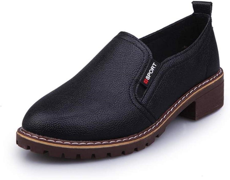 Women's Fringed Slip On Loafers shoes Round Toe Dress Platform Low Heel