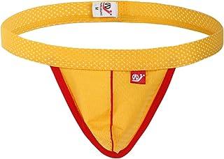 LUCKME Mens Microfiber Underwear Sexy Fashion Fishnet Boxer Briefs Shorts Underpants Soft Mesh Briefs G-String