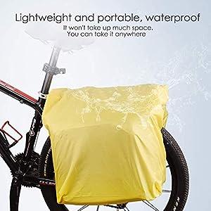 Funda impermeable para bicicleta de Nomark, material 100% impermeable, para asiento trasero de bicicleta, doble alforja para lluvia