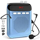 Voice Amplifier Portable Rechargeable PA System Speaker with LED Display,Wired Microphone Headset and Waistband,TF Card/AUX,20W 2000mAH Personal Speaker for Teachers, Coaches, Tour Guides, Meetings