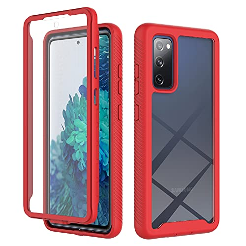 """Designed for Samsung Galaxy S20 FE 5G Case Built in Screen Protector,Full Body Hard Platic Heavy Drop Protective Dustproof Shockproof Soft Dual Layer Rugged Bumper Cover for Samsung S20 FE 6.5"""""""