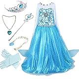 Canberries  Mädchen Prinzessin Schneeflocke Kleid Kostüme, #02 Kleid und Zubehör, Gr. 92...
