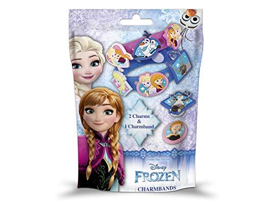 CRAZE 51857 CHARMBAND + Charms Frozen Kinderschmuck Die Eiskönigin Armband Armreif, mehrere Farben