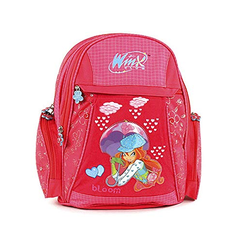 Target Winx Club Bloom Mädchen Schulrucksack Mochila Infantil, 41 cm, Rojo (Rot/Blau)