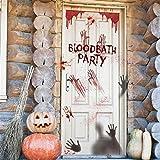 Transwen Pegatinas de Halloween, realistas de fantasía, Pegatinas azuladas, decoración de Huellas de Manos, Ventanas, para Fiestas