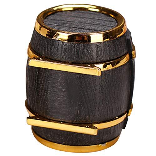 Kamenda Barril de Vino Joyero de Terciopelo Caja de Anillo de Boda Joyero Pendientes Collar Pulsera ExhibicióN Caja de Regalo Titular