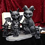 Nemesis Now Purrah Hexenhut Okkulte Katze, schwarz, 13,5 cm - 6