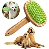 KitoLee ペット ブラシ 犬 猫 ブラシ 犬 バスブラシ 猫 お手入れブラシ 抜け毛とり 犬 猫用 長毛 短毛 兼用