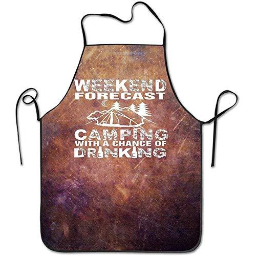 Myrdora Lustige Chefküche Küche Schürze Wochenend Vorhersage Camping Outdoor Freizeit Grillen Langlebig