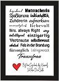 PICSonPAPER Personalisiertes Geschenk für Freundin/Frau, Poster DIN A4 Traumfrau, gerahmt mit schwarzem Bilderrahmen, Geburtstag, Poster mit Rahmen, Weihnachten, Personalisierbares Poster (Traumfrau)