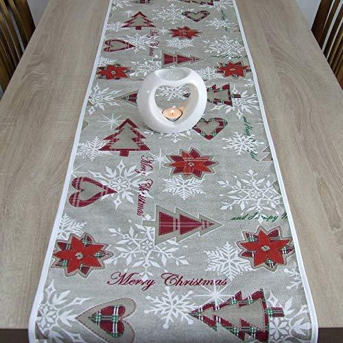 Wunderbare Tischläufer für Weihnachten, Merry Christmas, das Beste Geschenk für die schönste Küche von HomeAtelier, Weihnachtsdekoration, 150x40cm