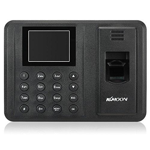 """KKmoon 指紋認証 タイムカード本体 USBサポート 2.8 """"TFT LCDディスプレイ バイオメトリック タイムレコーダー 出席レポートを直接出力可 (2.8インチ)"""