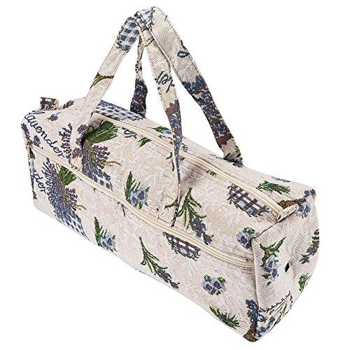 Grande borsa in tessuto, organizer per lavoro a maglia e accessori, per aghi, gomitoli e ferri Purple