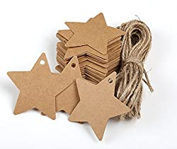 Star-Shaped Kraft Paper Tags