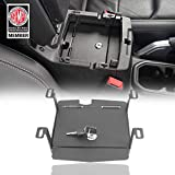 Hooke Road Interior Console Lock Box Security Storage for Jeep JL Wrangler 2018 2019 2020 2021
