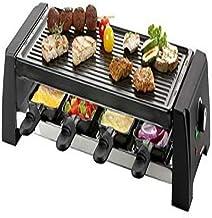 Domo DO9189G Raclette pour Barbecue en Pierre, Noir, Taille Unique