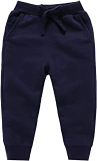 Unisex Kids Solid Cotton Drawstring Waist Winter Pants Toddler Baby Bottoms Active Sweatpants