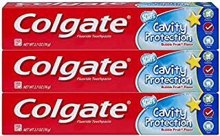 Colgate Colgate kids toothpaste cavity protection, bubble fruit, 2.7 ounces (3 pack), 2.7 Ounce