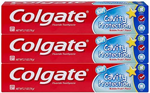 Colgate COLGATE fluoridhaltigen Zahnpasta Cavity Schutz für Kinder, Blase Frucht-Aroma 2,7 Unzen (3er-Pack)