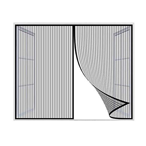 Zanzariera Per Finestra, Zanzariera Magnetica per Porta, Zanzariera Per Finestra Magnetica, Zanzariera Con Nastro Magico Protezione Zanzara-NERO-100x130cm(39x51inch)