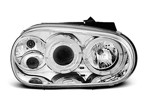 1 paar koplampen Golf 4 97-03 Angel Eyes chroom W06