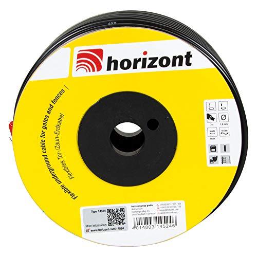 horizont flexibles Erdkabel 50m, Zaunkabel, Torkabel für den Weidezaun, doppelt isoliert, Kupferleiter, Spannungsfestigkeit bei über 20.000 V, Zaun, Elektrozaun