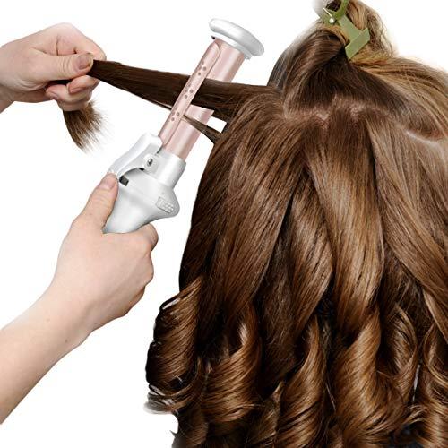 Haokaini Protable schnurloses Haar-Lockenstab, wiederaufladbare keramische Haar-Lockenstab-Wet Dry-Gebrauch-Reise-Haarglätter-Lockenwickler