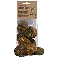 6 delicious cookies: dandelion & sunflower, marigold & banana and parsley & raspberry 100% grain-free. No glue, honey, egg or gelatine a crisp and crunchy treat to stimulate your pet ideal for rabbits, guinea pigs and chinchillas made only from 100% ...