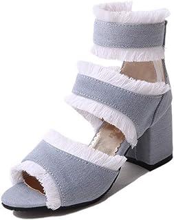 BalaMasa Womens ASL06666 Pu Block Heels