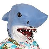 Carnival Toys - Máscara de látex tiburón en bolsa con encabezado, multicolor (1405)